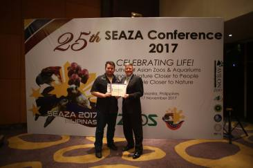 Doug Cress (WAZA) and Pierre at the SEAZA Conference